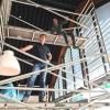 Werk in uitvoering bij folie montage in de brasserie van vakantiepark Qurios op Ameland